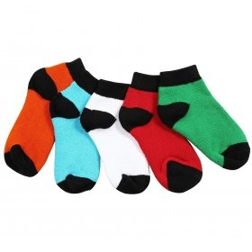 Footmate Toddler Unisex Terry Socks (5 Pair Pack)