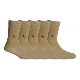 Footmate Socks Men's Coffee Cream Formal Socks (5 Pair Pack)