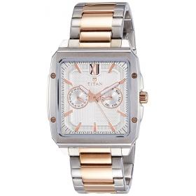 Titan Analog Silver Dial Men's Watch - 1689km01