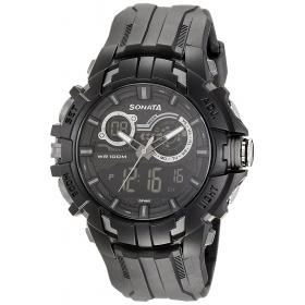 Sonata Ocean Series Digital Black Dial Men's Watch