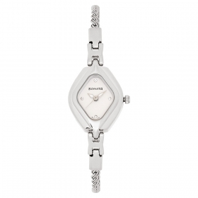 Sonata Silver Dial Metal Strap Watch (87010sm02)