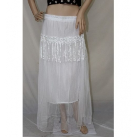 Sarva Long Skirt White Net