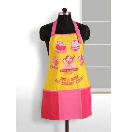 Swayam Digitally Printed Apron Free Adjustable Size