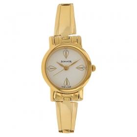Sonata White Dial Stainless Steel Strap Watch (8976ym04cj)