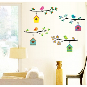 Ay7226 Cute Birds Home Nature Wall Sticker  Jaamso Royals