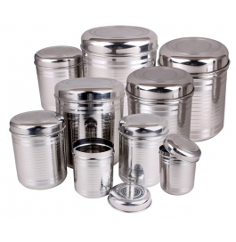 Kitchen Zone Ss Storage Container Set (9 Pieces)