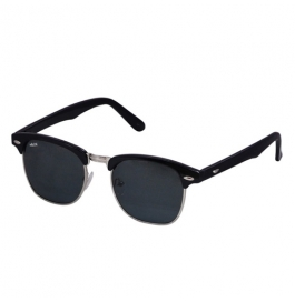 Sunglasses Aviator black green Goggles With leather Cover