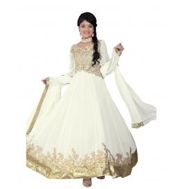 White Color Designer Long Length Anarkali