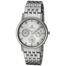 Titan Silver Dial Analog Watch For Women-2557sm01