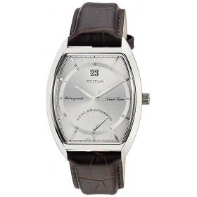 Titan Silver Dial Retrograde Dual Time Men's Watch - 1680sl01