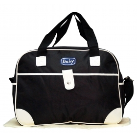Multi-functional Baby Diaper Nappy Changing Bag (black)
