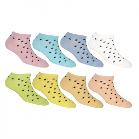 Footmate Women Ankle Doted Socks (8 Pair Pack)