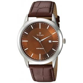 Titan Neo Brown Dial Analog Watch For Men-1584sl04