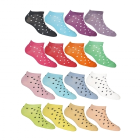 Footmate Women Ankle Doted Socks (16 Pair Pack)