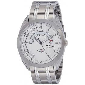 Titan Analog White Dial Men's Watch - 1582sm01