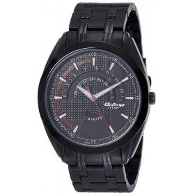 Titan Analog Black Dial Men's Watch - 1582nm01