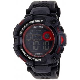Sonata Ocean Digital Black Dial Men's Watch - 77010pp02j