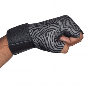 Leather Gym Gloves With Wrist Wrap (medium)