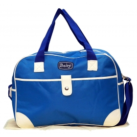 Multi-functional Baby Diaper Nappy Changing Bag (blue)