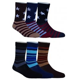 Footmate Socks Men's Fancy Socks Ml1&2 (pack Of 6)