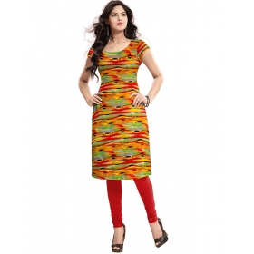 Exclusive Designer Orange Kurti