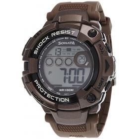 Sonata Ocean Series Ii Digital Grey Dial Men's Watch - 77010pp01j