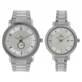 Silver Dial Stainless Steel Strap Watch (94402554sm01