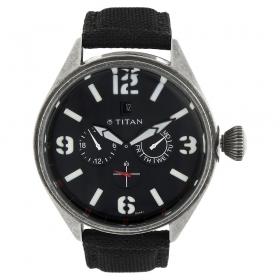 Titan Black Dial Analog Watch For Men (9478qf01j )