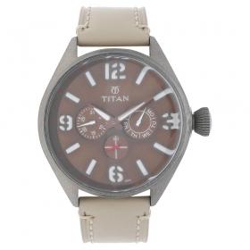 Titan Purple Brown Dial Analog Watch For Men (9478ql03j )