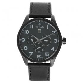 Titan Purple Grey Dial Analog Watch For Men (9483nl02j )