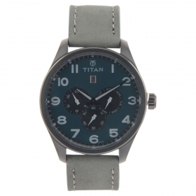 Titan Purple Blue Dial Analog Watch For Men (9483nl04j )
