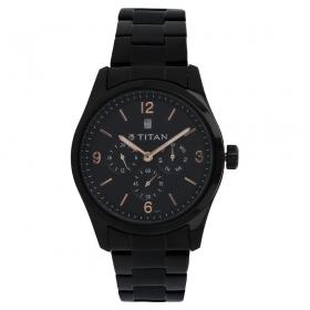 Titan Black Dial Analog Watch For Men - 9493nm01j