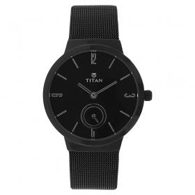 Black Dial Metal Strap Watch (95033nm01j)
