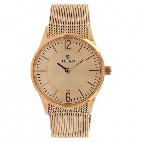 Titan Rose Gold Dial Analog Watch For Women (95035wm01)