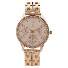 Rose Gold Dial Analog Watch (95040wm01j)