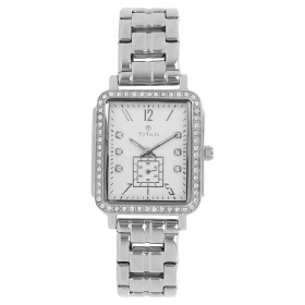 Silver Dial Stainless Steel Strap Watch (95042sm01j)