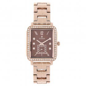 Brown Dial Stainless Steel Strap Watch (95042wm02j)