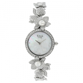 Mother Of Pearl Dial Metal Strap Watch (95043sm01j)