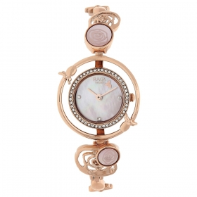 Mother Of Pearl Dial Metal Strap Watch (95047wm01j)