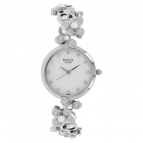 Mother Of Pearl Dial Metal Strap Watch (95048sm01j)