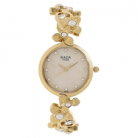 Mother Of Pearl Dial Metal Strap Watch (95048ym01j)