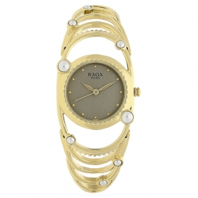 Grey Dial Metal Strap Watch (95049ym01j)