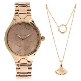 Titan Purple Whimsy Golden Dial Analog Watch For Women (95060wm01f)