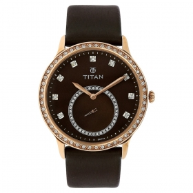 Titan Purple Analog Watch For Women (9957wl02j)