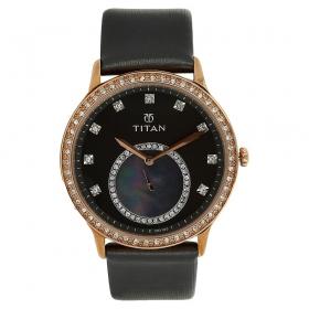 Titan Purple Grey Dial Analog Watch For Women (9957wl03j )