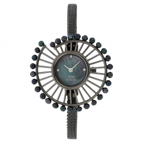 Titan Raga Black Dial Analog Watch For Women (9970qm01j )