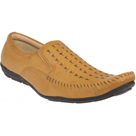 Men Tan Loafers