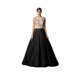 Designer Black Sillk Gown