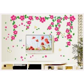 Ay7099 Pink Flower Nature Wall Sticker  Jaamso Royals