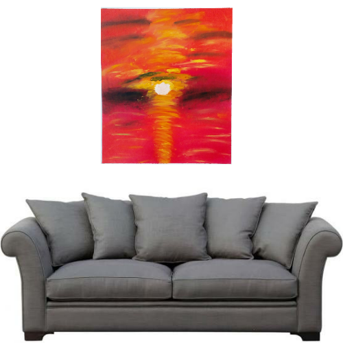 'sunset' 20x24inch Handmade Abstract Painting Oil On Canvaspainting Without Frame Rolled Canvas